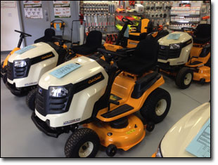 Lawn Tractors, Snow Blowers, Trimmers, Chain Saws...